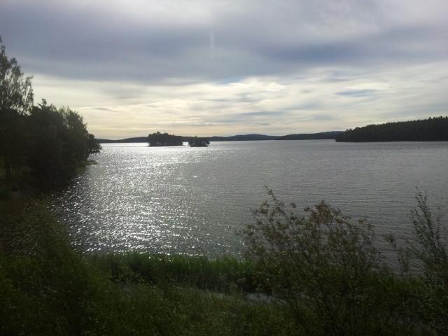 Dal treno, sulla strada verso Sundborn.