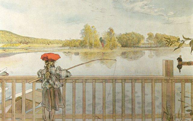 Lisbeth a pesca, 1900, Stoccolma, Nationalmuseum