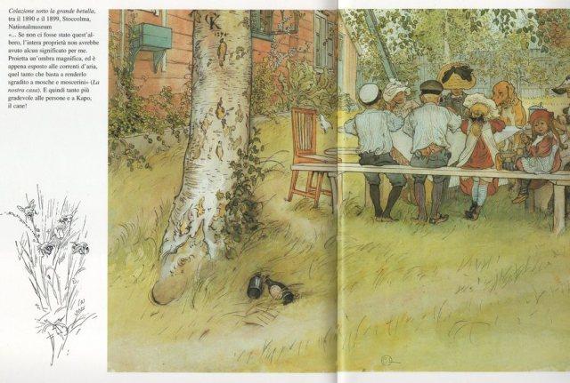 Colazione sotto la grande betulla. Carl Larsson