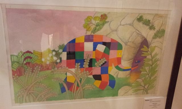 David McKee. Illustrazione trattta da 'Elmer and the big bird.