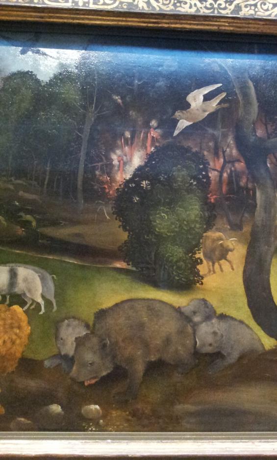 Piero di Cosimo-Incendio nella foresta- Ashmolean Museum- Oxford.
