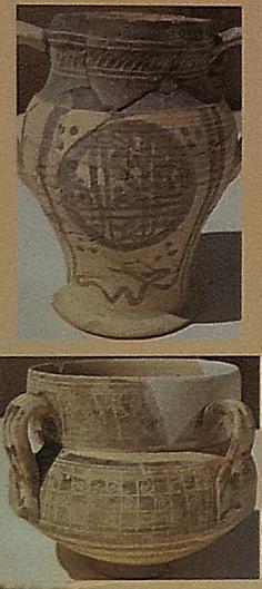 Decorazione-ceramica- sgraffiata-museo- archeologico- Alcazaba-palazzo-Nazari-Malaga