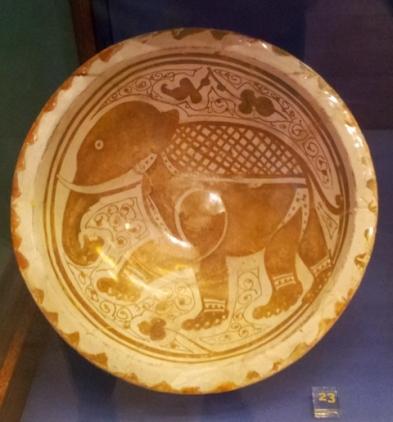 Ciotola-lustro-elefante-fatimida-museo-archeologico-Alhambra-Granada.