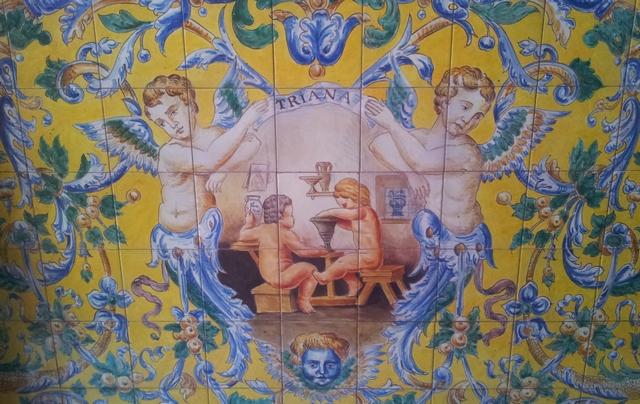 Pannello-azulejos-barrio-Triana-Siviglia