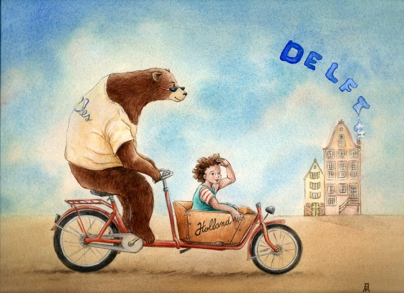 Orso/bear-Holland-Delft-cargo-bike-Adriana-Pecoraro